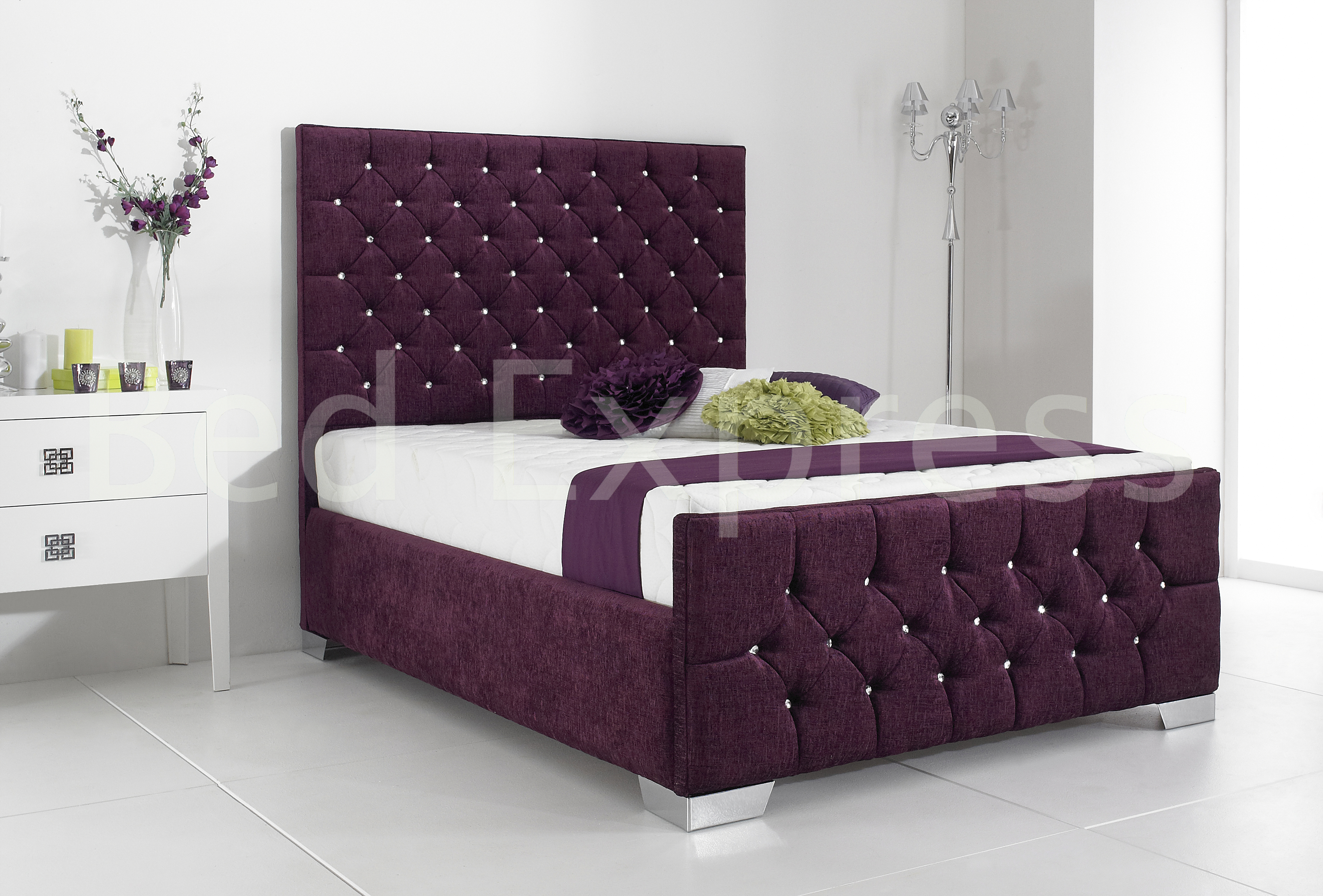 fabric upholstered bed frame made in the uk