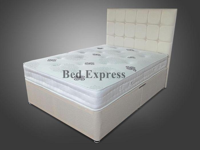 3ft Single 4ft6 Double 5ft King 6ft 2000 Pocket Spring Divan Bed With Mattress Ebay