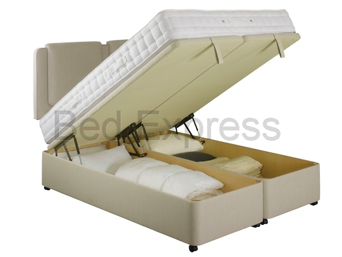 6ft super king size luxury ottoman divan storage bed 10 for King size divan bed with memory foam mattress