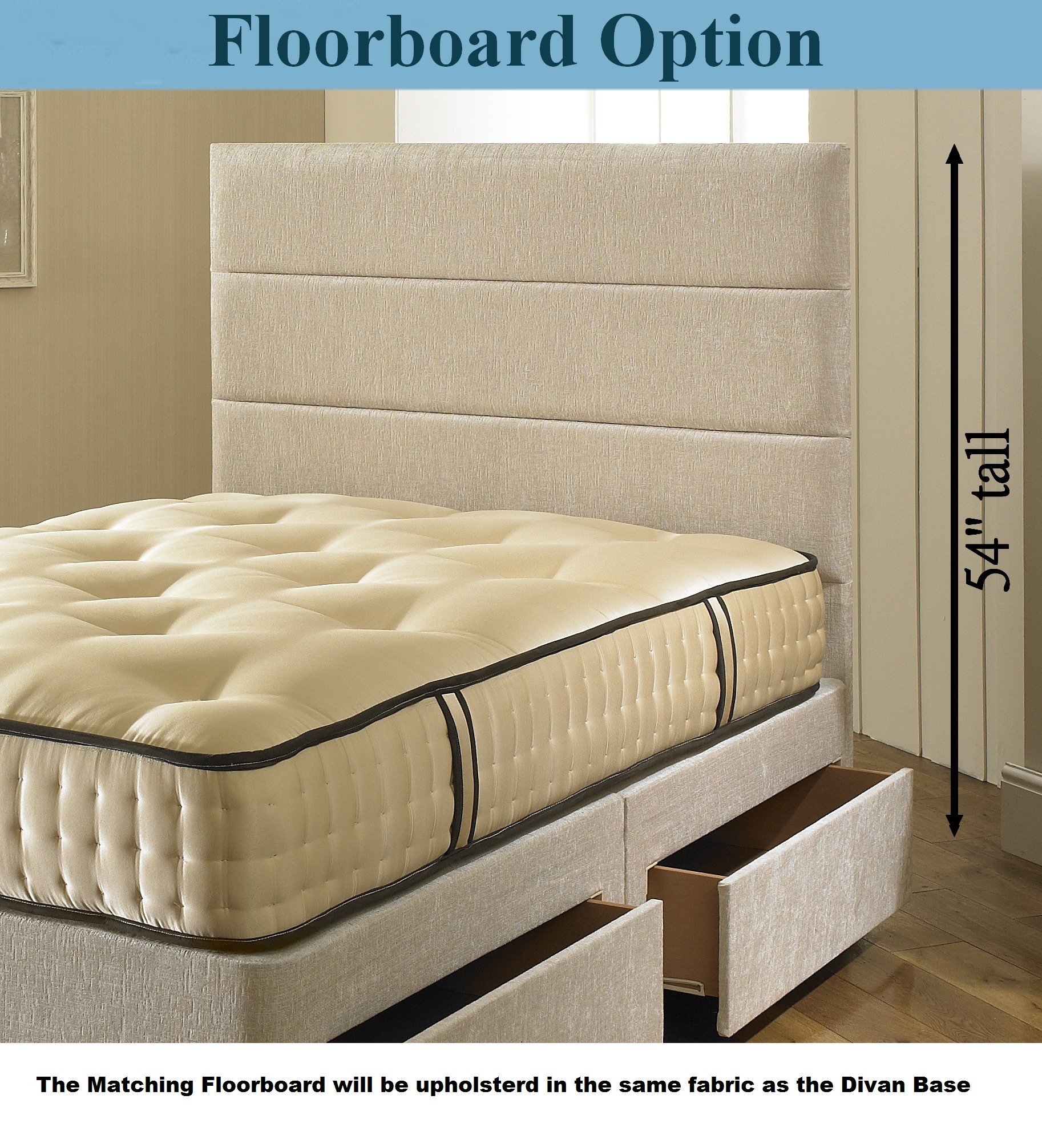 3000 pocket spring divan bed memory foam mattress 4ft6 for King size divan bed memory foam