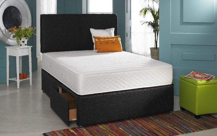 Divan Bed 10 Inch Memory Foam Mattress Headboard 3ft 4ft6 Double 5ft King 6ft Ebay
