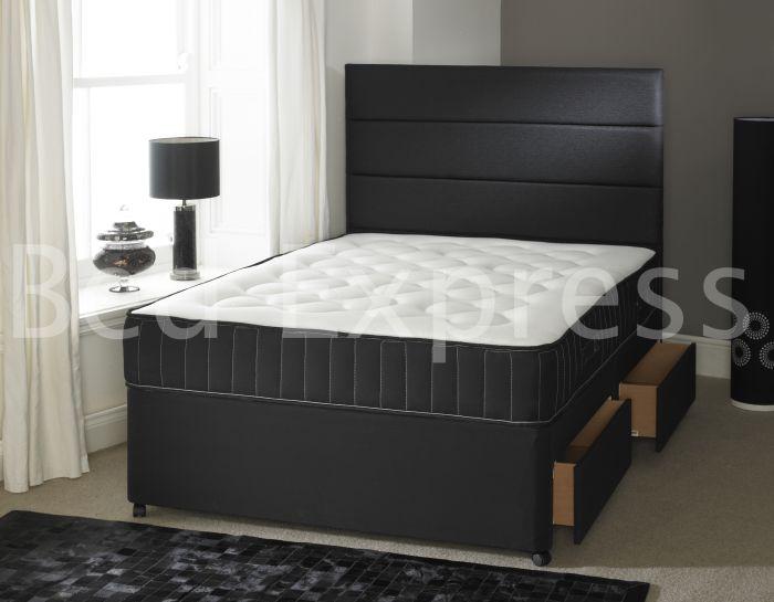 divan bed inch memory foam mattressheadboard ft,ft double, Headboard designs