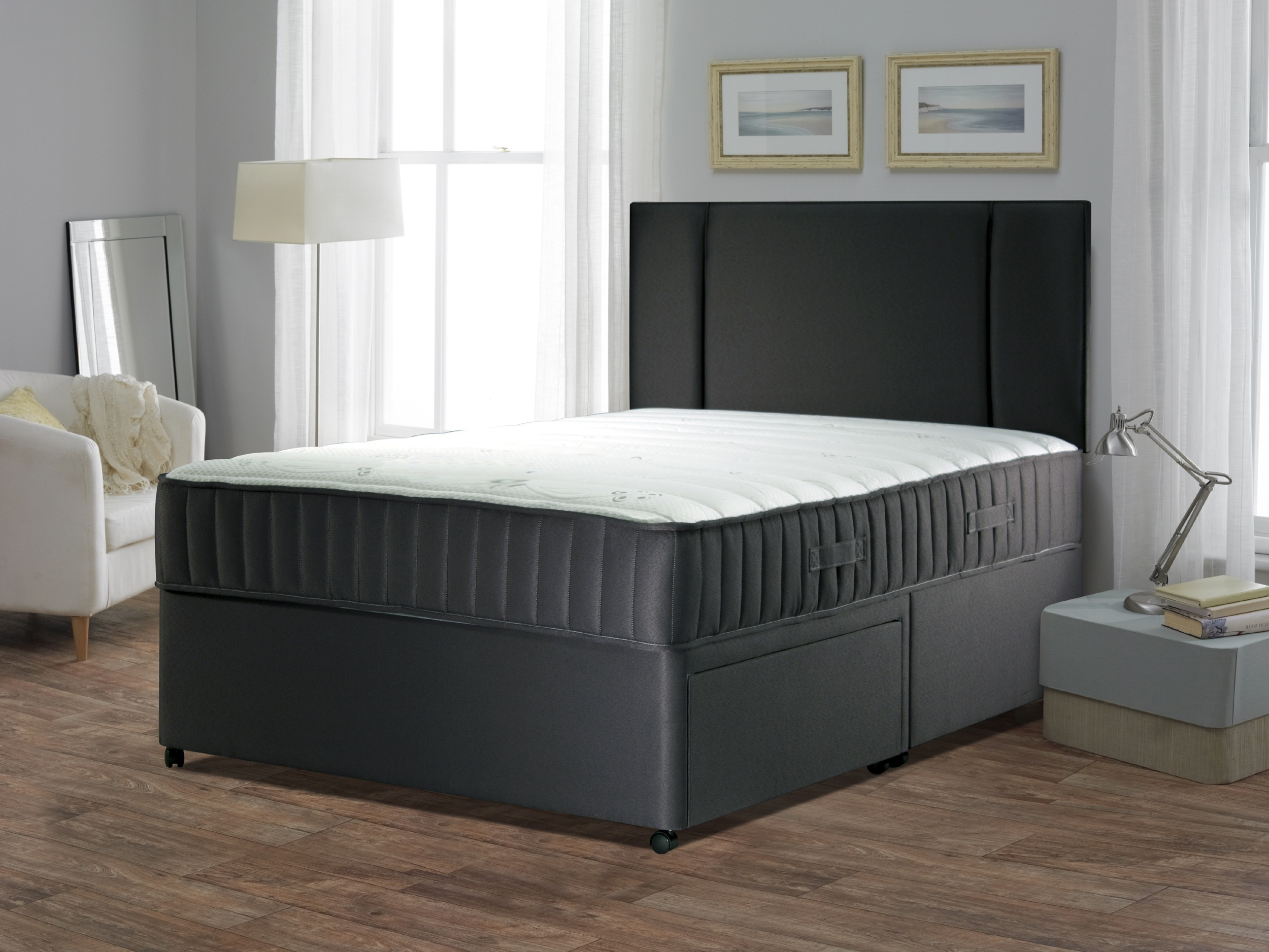 Single 4ft6 Double 5ft King Size 6ft Super Orthopaedic Divan Bed Mattress Ebay