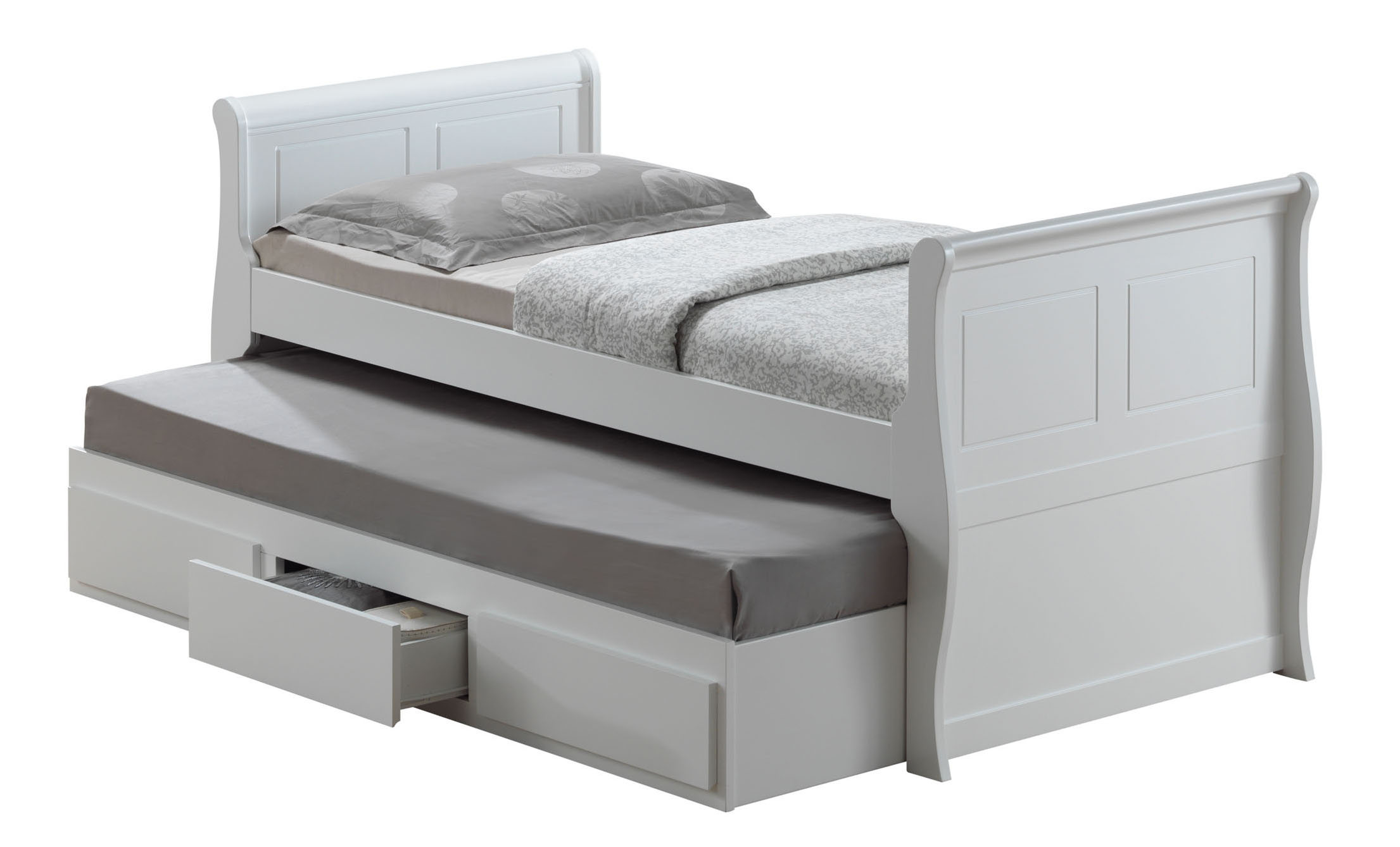 Joseph white wooden oasis guest bed single white guest bed mattresses ebay Bed with mattress