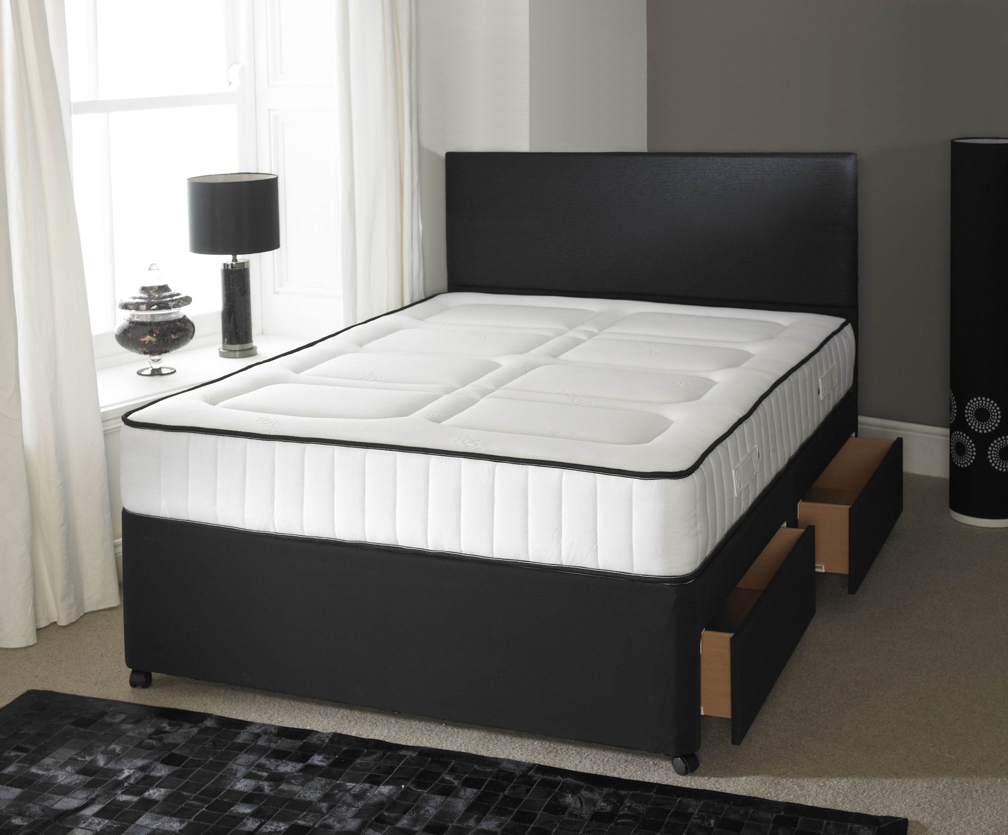 Single double super king size orthopaedic divan bed with for Super king size divan