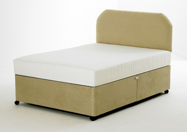 2ft6 small single beige stone faux suede divan base only for High divan base